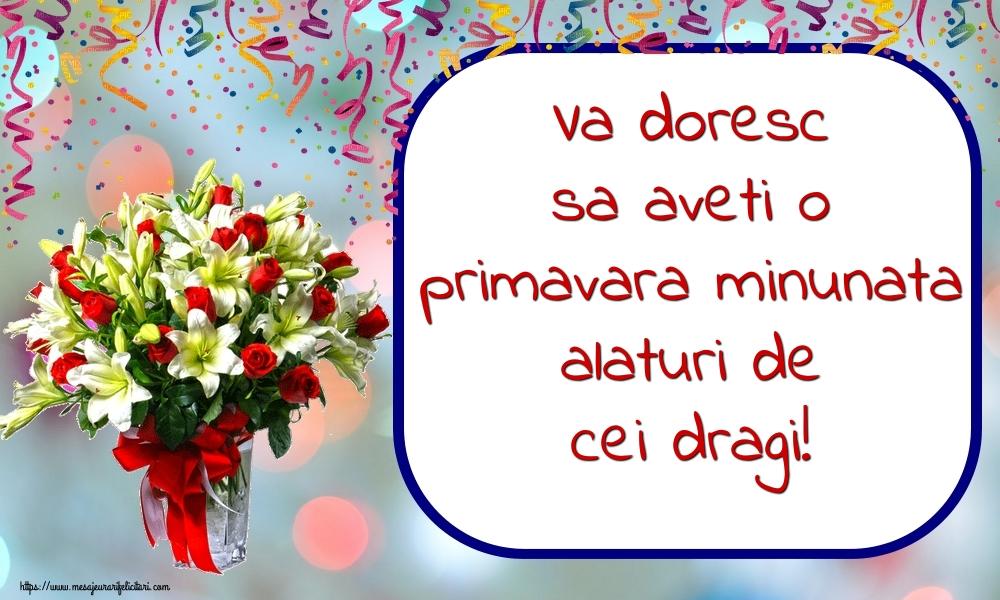 Cele mai apreciate felicitari de Primavara - Va doresc sa aveti o primavara minunata alaturi de cei dragi!