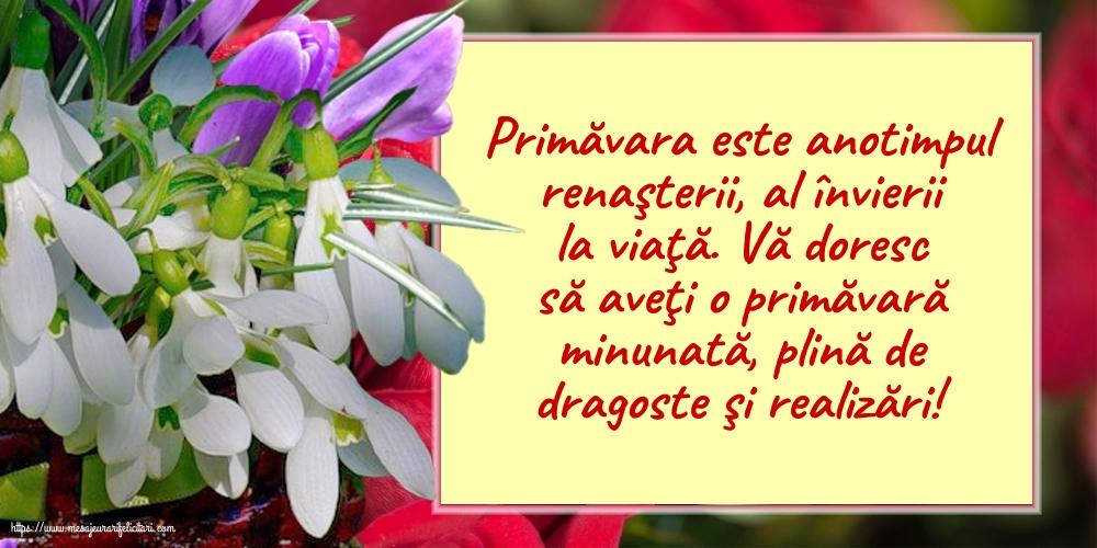 Felicitari de Primavara - O primăvară minunată! - mesajeurarifelicitari.com