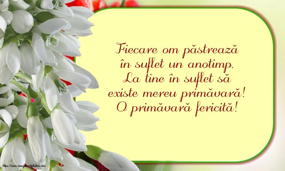 Felicitari de Primavara cu mesaje - O primăvară fericită!