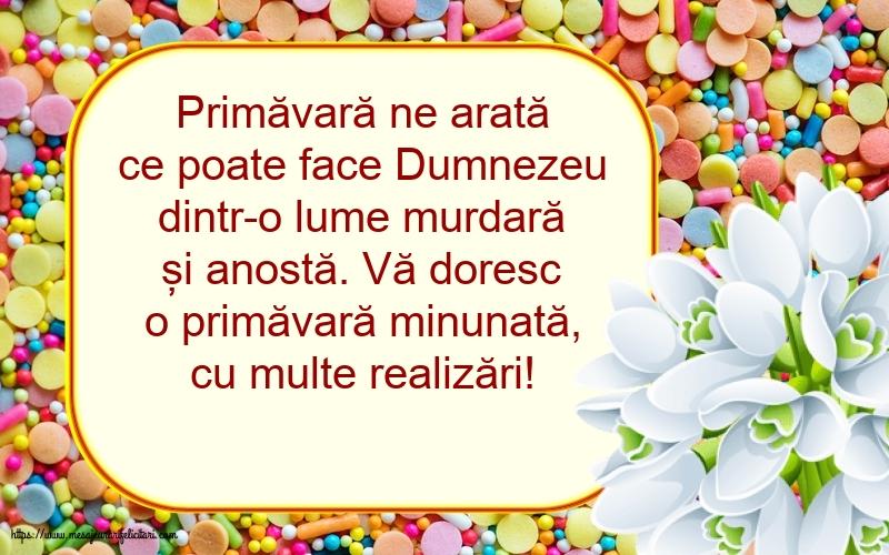 Felicitari de Primavara cu mesaje - Vă doresc o primăvară minunată, cu multe realizări!