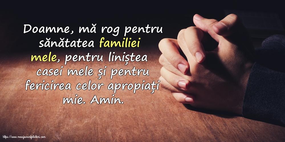 Imagini religioase - Doamne, mă rog pentru sănătatea familiei mele! - mesajeurarifelicitari.com