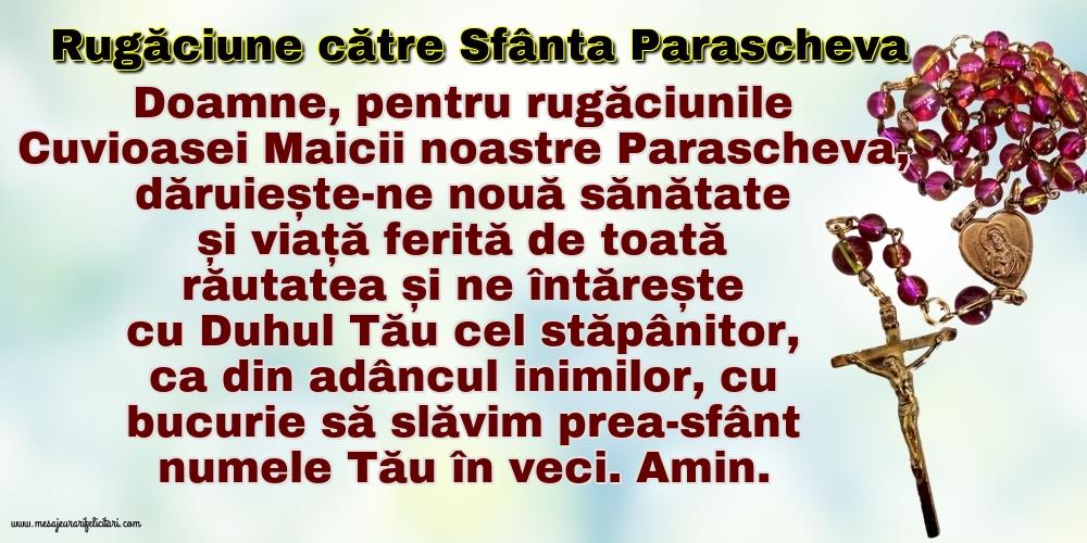 Cele mai apreciate imagini religioase - Rugăciune către Sfânta Parascheva