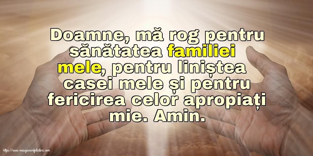 Imagini religioase - Doamne, mă rog pentru sănătatea familiei mele!
