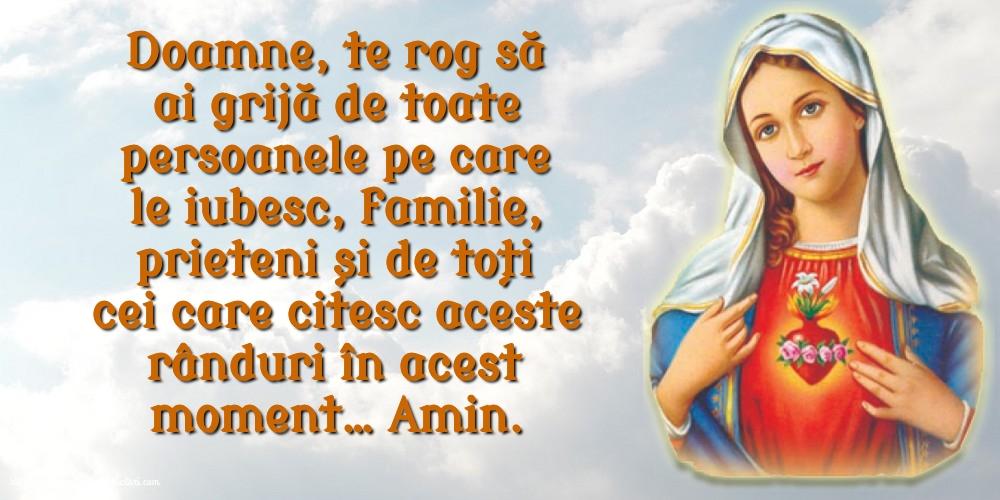 Imagini religioase - Doamne, te rog să ai grijă de toate persoanele pe care le iubesc.