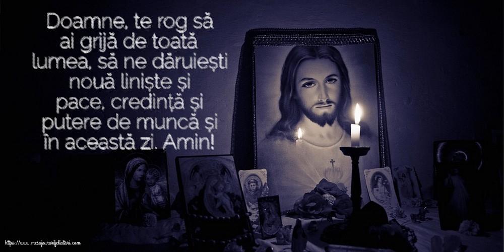 Imagini religioase - Doamne, te rog să ai grijă de toată lumea!