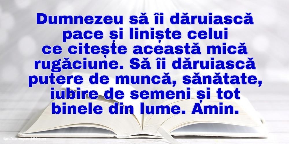 Cele mai apreciate imagini religioase cu mesaje - Dumnezeu să îi dăruiască pace și liniște celui ce citește această mică rugăciune