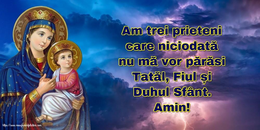 Imagini religioase cu mesaje - Amin! Tatăl, Fiul și Duhul Sfânt