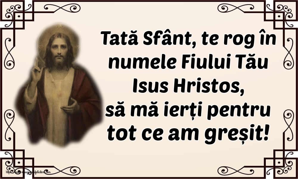 Imagini religioase - Tată Sfânt, te rog în numele Fiului Tău Isus Hristos, să mă ierți pentru tot ce am greșit!