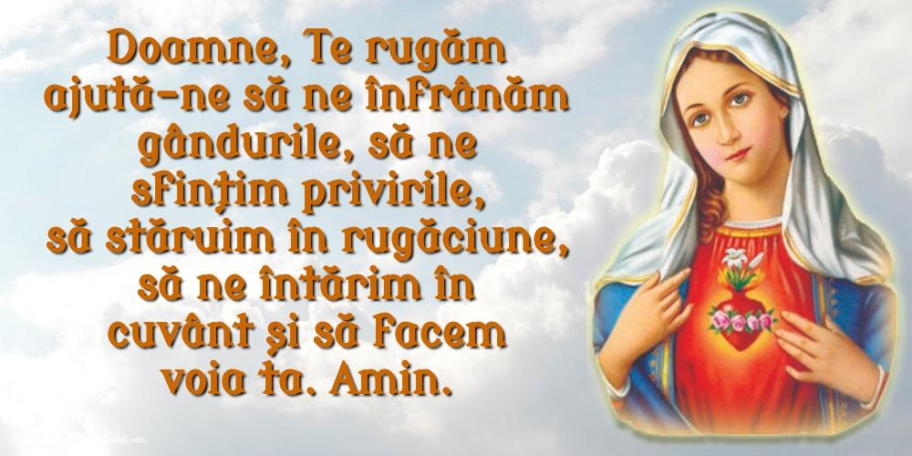 Imagini religioase - Doamne, Te rugăm ajută-ne să ne înfrânăm gândurile - mesajeurarifelicitari.com