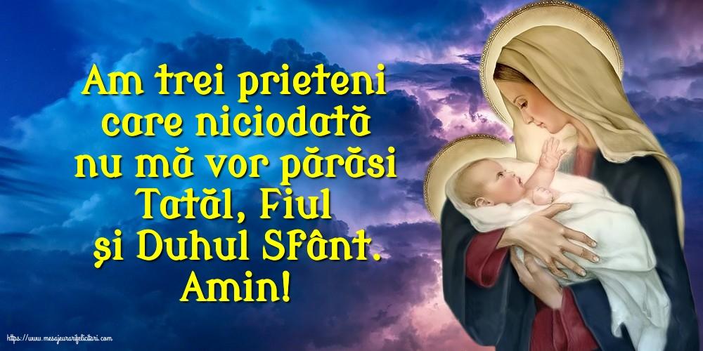 Imagini religioase - Amin! Tatăl, Fiul și Duhul Sfânt