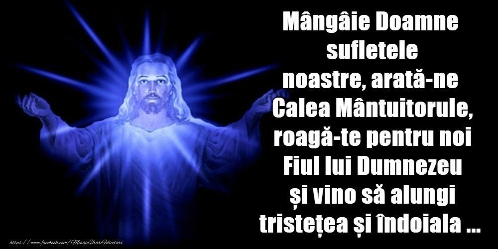 Imagini religioase - Mangaie Doamne sufletele noastre, arata-ne Calea Mantuitorule - mesajeurarifelicitari.com