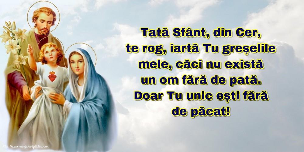 Cele mai apreciate imagini religioase - Tată Sfânt, din Cer, te rog, iartă Tu greşelile mele