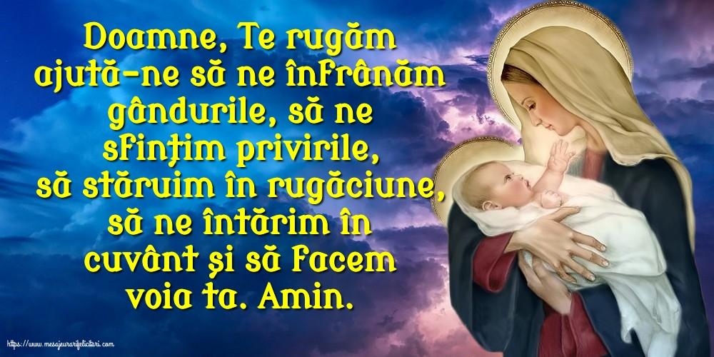 Imagini religioase - Doamne, Te rugăm ajută-ne să ne înfrânăm gândurile