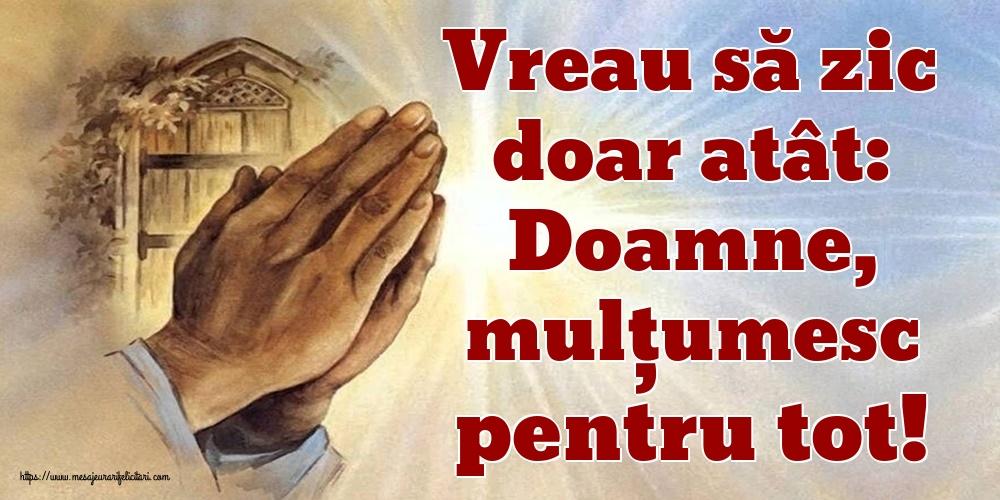 Cele mai apreciate imagini religioase - Vreau să zic doar atât: Doamne, mulțumesc pentru tot!