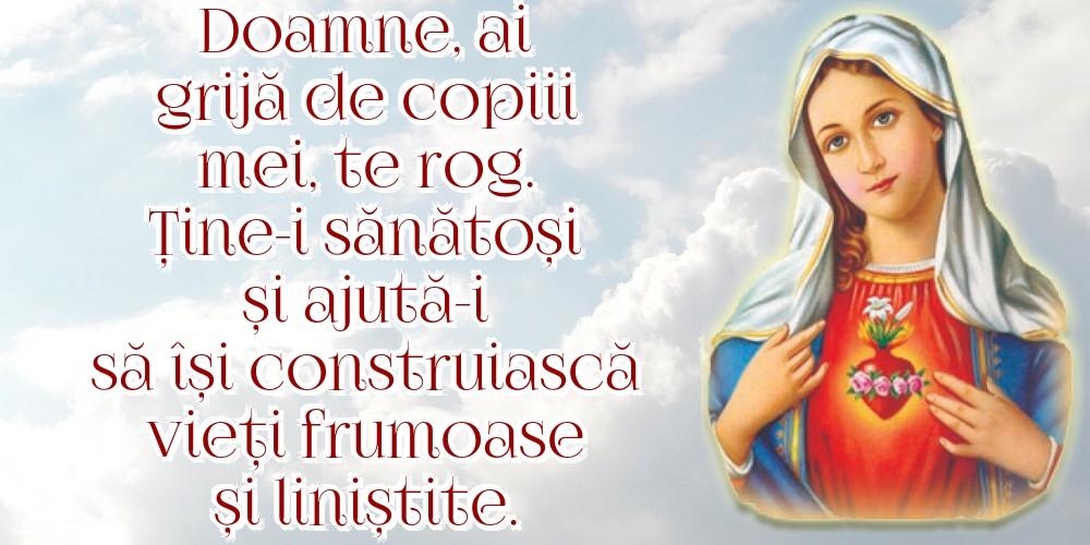 Imagini religioase - Doamne, ai grijă de copiii mei, te rog.