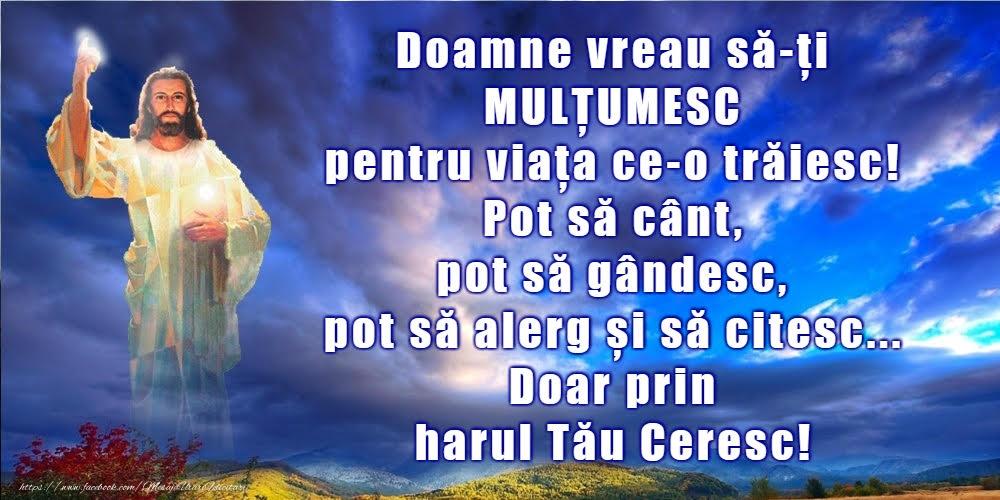 Imagini religioase - Doamne vreau să-ți MULȚUMESC - mesajeurarifelicitari.com