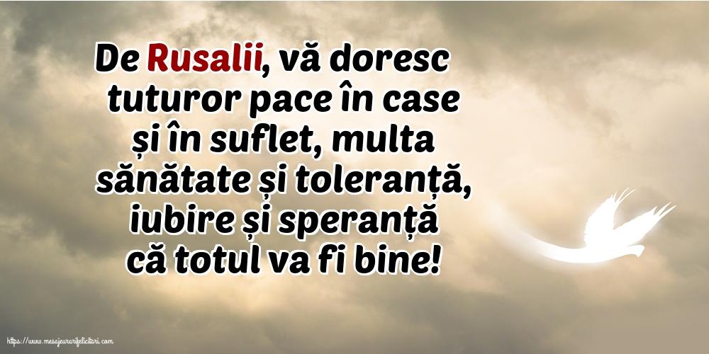 Felicitari de Rusalii - De Rusalii, vă doresc tuturor... - mesajeurarifelicitari.com