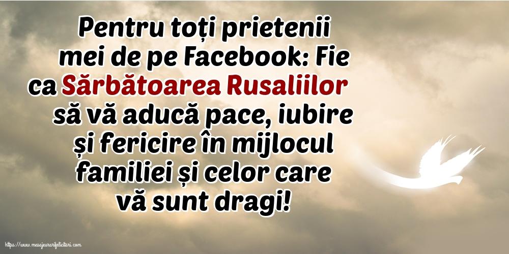 Felicitari de Rusalii cu mesaje - Pentru toți prietenii mei de pe Facebook