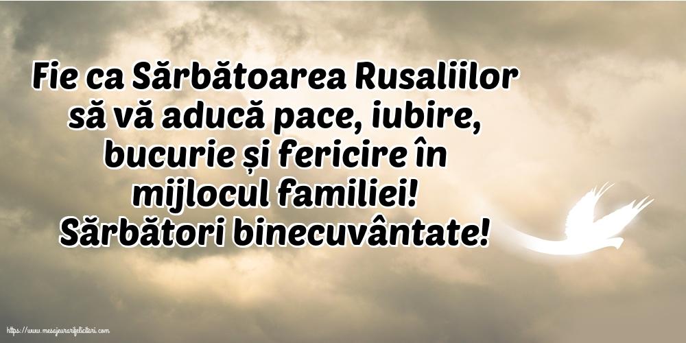 Felicitari de Rusalii cu mesaje - Sărbători binecuvântate!