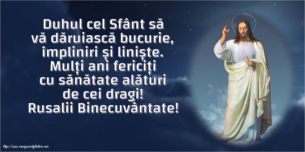 Felicitari de Rusalii - Rusalii Binecuvântate!