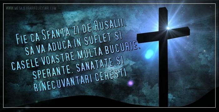 Fie ca Sfanta zi de Rusalii, sa va aduca in suflet si casele voastre multa   bucurie, sperante, sanatate si binecuvantari ceresti