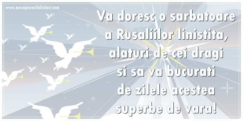 Top 10 felicitari de Rusalii