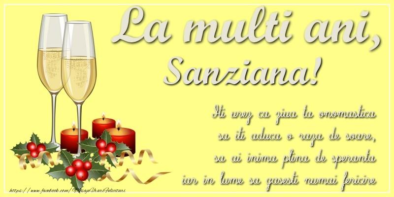 Felicitari de Sanziene - La multi ani, Sanziana! Iti urez ca ziua ta onomastica sa iti aduca o raza de soare, sa ai inima plina de speranta iar in lume sa gasesti numai fericire - mesajeurarifelicitari.com