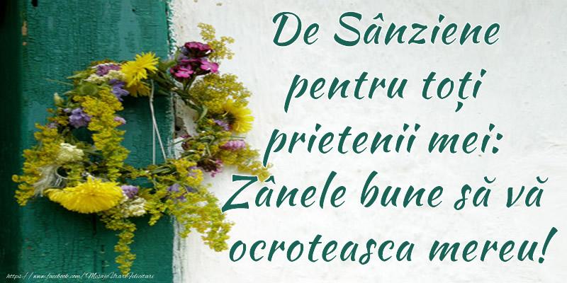 Felicitari de Sanziene - De Sânziene pentru toți prietenii mei: Zânele bune să vă ocroteasca mereu!
