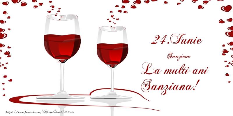 Felicitari de Sanziene - 24.Iunie La multi ani Sanziana!