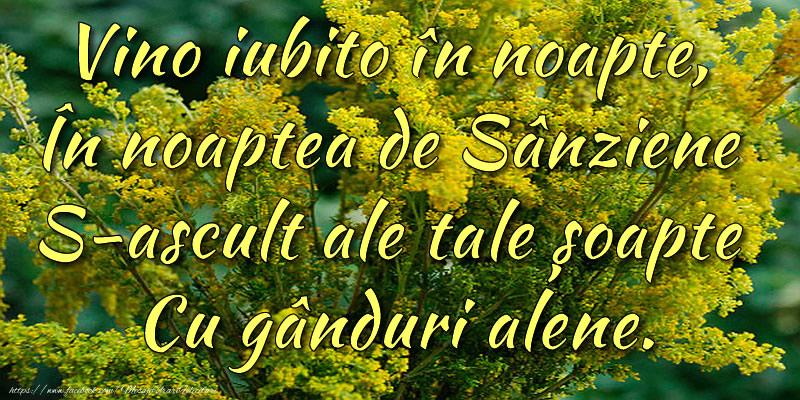 Felicitari de Sanziene - Poezie de Sânziene