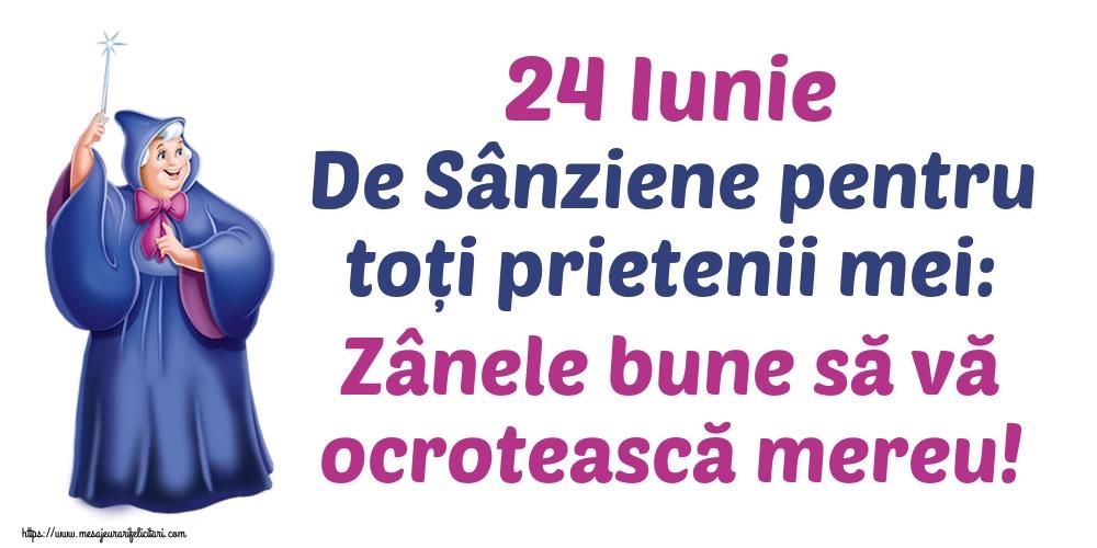 Felicitari de Sanziene - 24 Iunie De Sânziene pentru toți prietenii mei: Zânele bune să vă ocrotească mereu!
