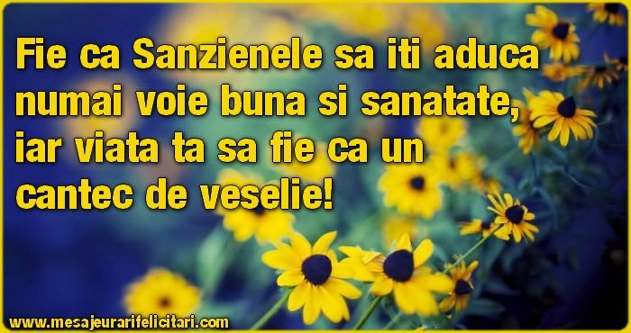 Sanziene Fie ca Sanzienele sa iti aduca numai voie buna si sanatate, iar viata ta sa fie ca un cantec de veselie!
