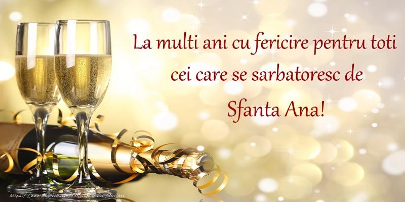 Cele mai apreciate felicitari de Sfanta Ana - La multi ani cu fericire pentru toti cei care se sarbatoresc de Sfanta Ana!