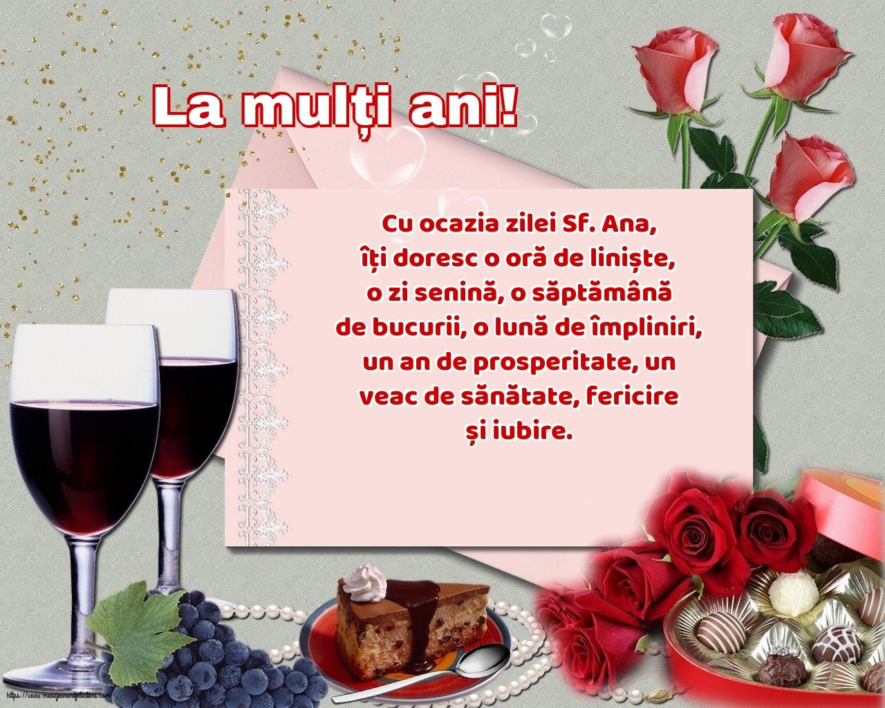 Cele mai apreciate felicitari de Sfanta Ana - La mulți ani!