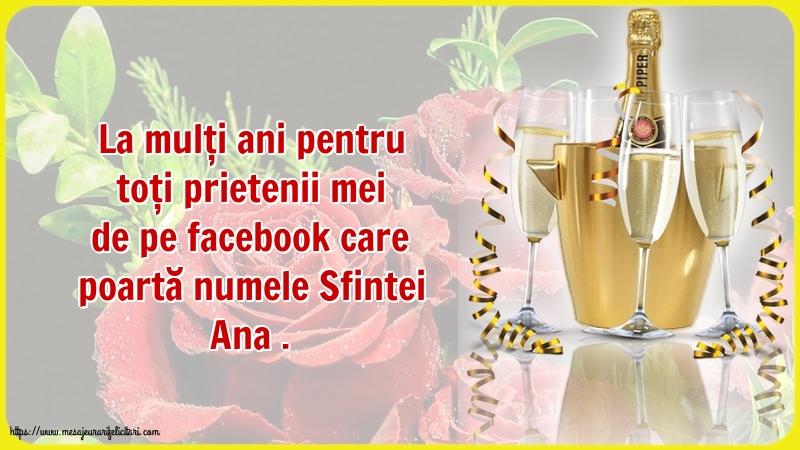 Cele mai apreciate felicitari de Sfanta Ana - La mulți ani pentru toți prietenii mei de pe facebook