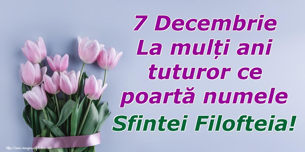 Felicitari de Sfânta Filofteia - 7 Decembrie La mulți ani tuturor ce poartă numele Sfintei Filofteia!