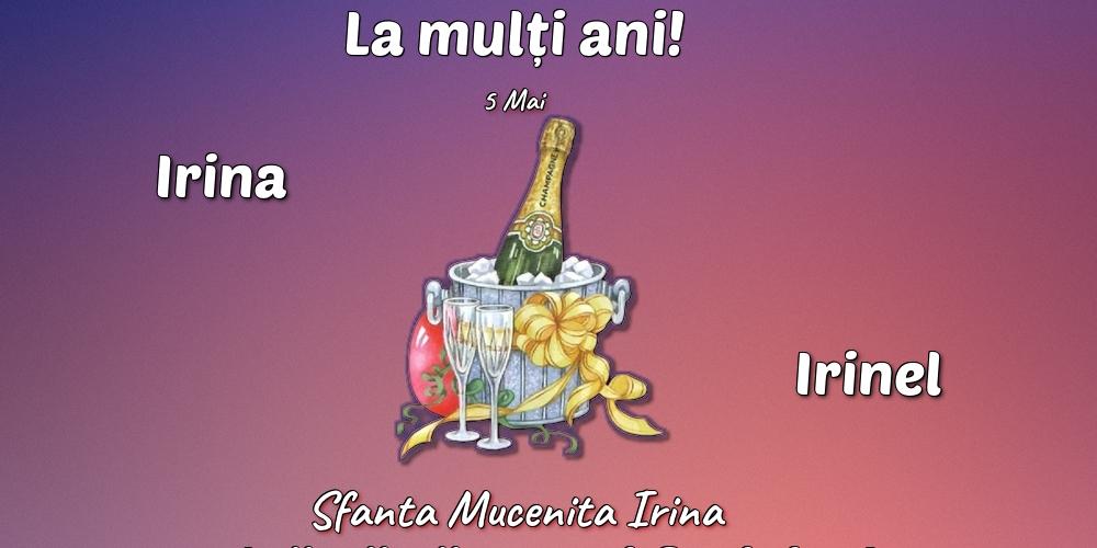 Felicitari de Sfanta Irina cu sampanie - 5 Mai - Sfanta Mucenita Irina