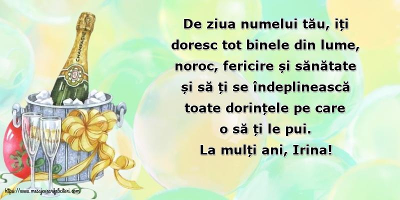 Felicitari de Sfanta Irina - La mulți ani, Irina!