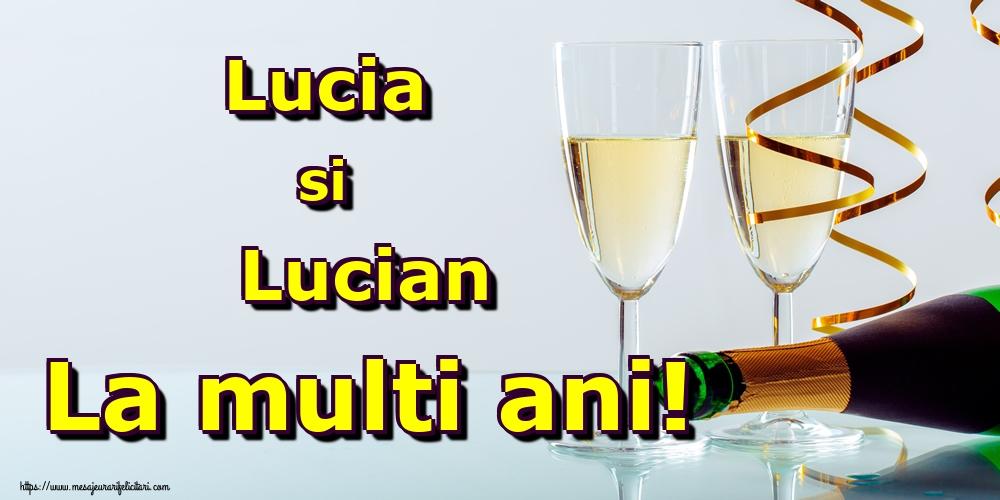 Sfanta Lucia Lucia si Lucian La multi ani!