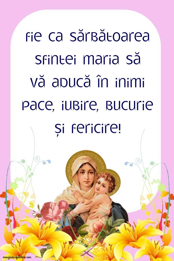 Sărbătoarea Sfintei Maria