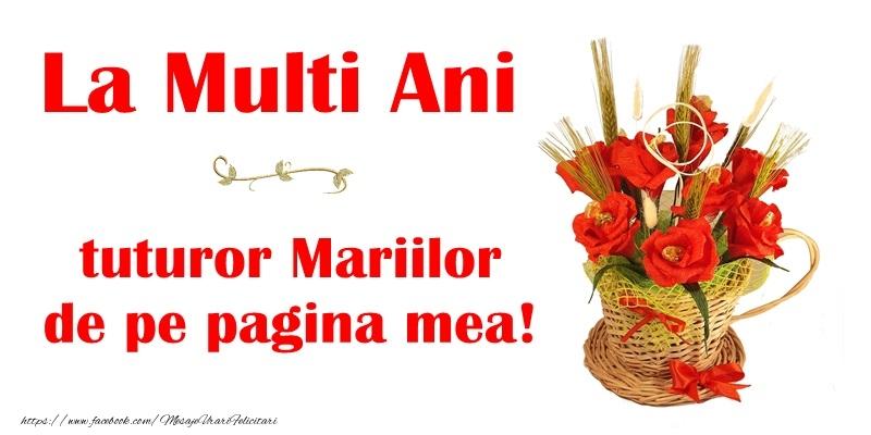 Sfanta Maria Mare La multi ani tuturor Mariilor de pe pagina mea!
