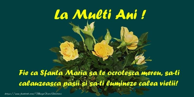 Felicitari de Sfanta Maria - mesajeurarifelicitari.com