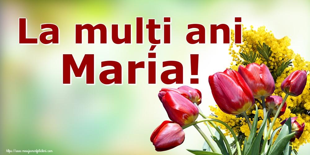 La mulți ani Maria!