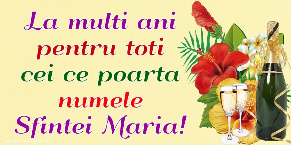 Sfanta Maria Mica La multi ani pentru toti cei ce poarta numele Sfintei Maria!