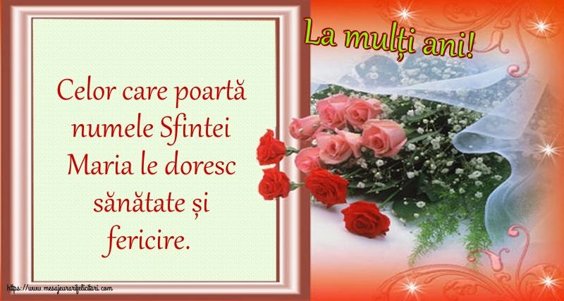 Felicitari de Sfanta Maria Mica - La mulți ani! - mesajeurarifelicitari.com