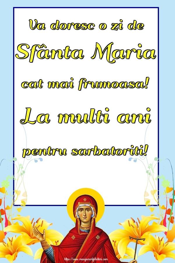 Felicitari de Sfanta Maria Mica 2019