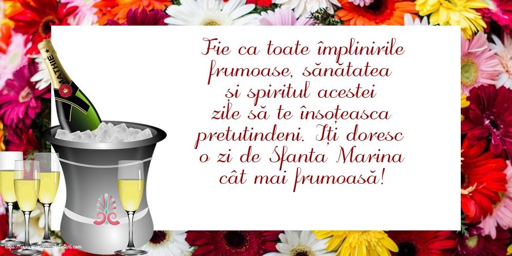 Felicitari de Sfanta Marina - Iți doresc o zi de Sfanta Marina cât mai frumoasă!