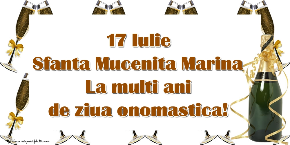 Felicitari de Sfanta Marina - 17 Iulie Sfanta Mucenita Marina La multi ani de ziua onomastica!