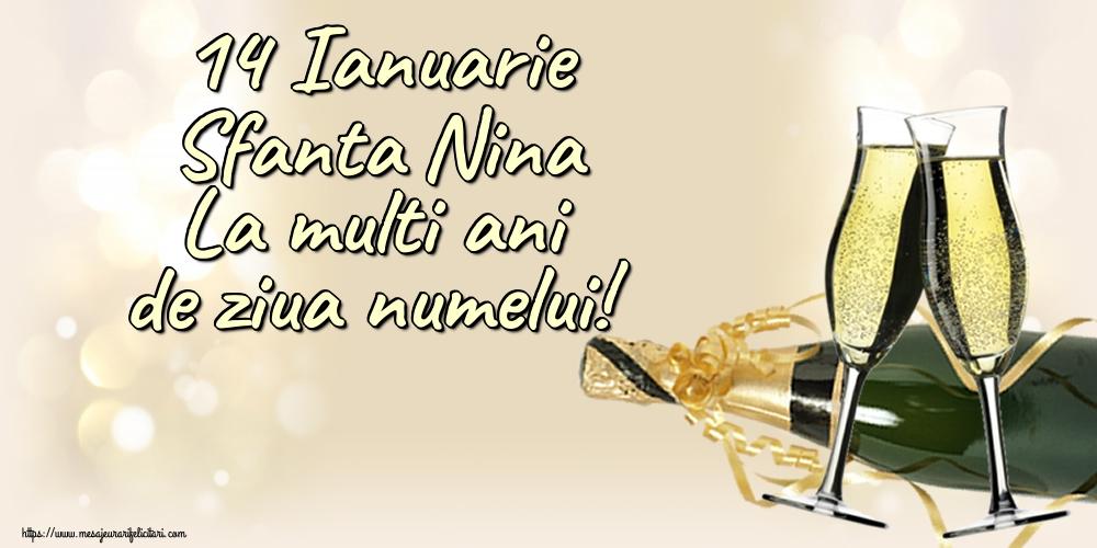 Felicitari de Sfanta Nina - 14 Ianuarie Sfanta Nina La multi ani de ziua numelui!
