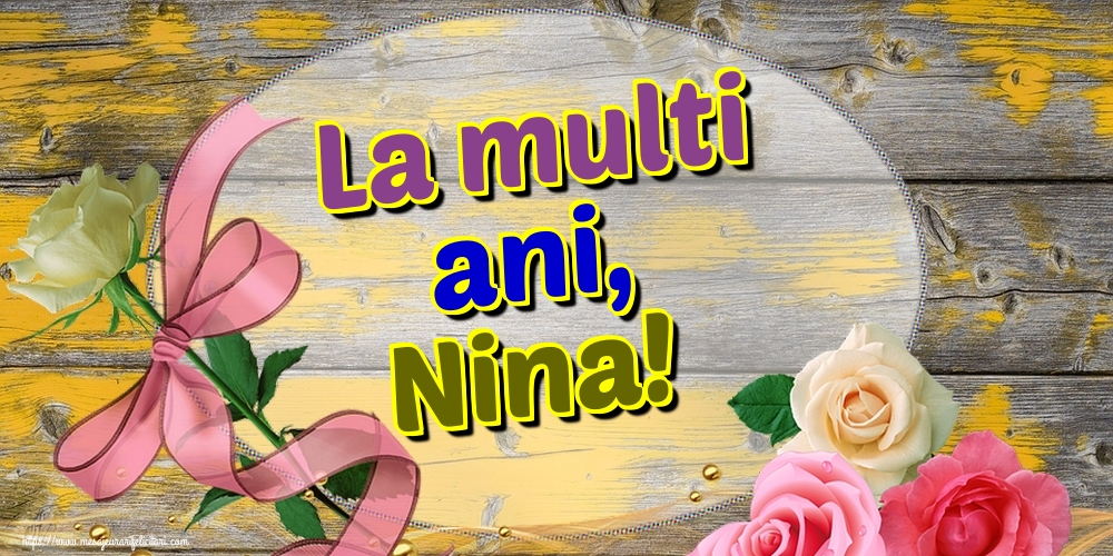 Felicitari de Sfanta Nina - La multi ani, Nina!